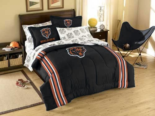 Bears Set Full Sheet Chicago (The Northwest Company 3pc NFL Chicago Bears Twin-Full Comforter Set Football Team Logo Comforter and Pillow Shams)