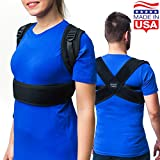 Posture Corrector Back Brace for Woman & Men - Improve Universal Comfortable Large Fully Adjustable Spine Corrector - Clavicle Support Improve Bad Posture Shoulder Alignment and Pain Relief(S)