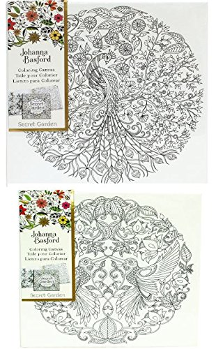 Johanna Basford Canvas Secret Garden Bundle Peacock And Hummingbird 12 X