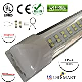 4 Pack of 8ft 60w T8 Integrated LED Tube Light - Natural White (Day Light)