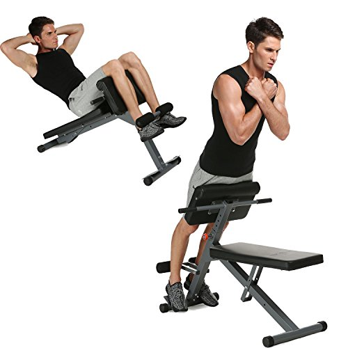 hotstype Adjustable Pro Ab/Hyper Bench, Home Office Gym Multi-Workout Abdominal/Hyper Back Extension Bench for Women Men by hotstype