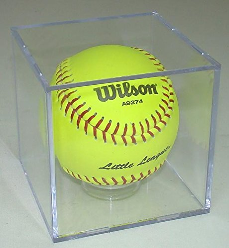 "SOFTBALL CUBE DISPLAY CASE with Stand for 11"" Softball"