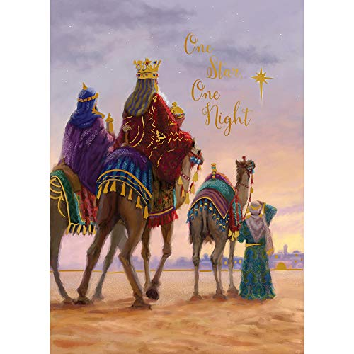(Paper Magic Group Three Kings 'One Star, One Night' Religious Christmas Cards, Set of 12, 5