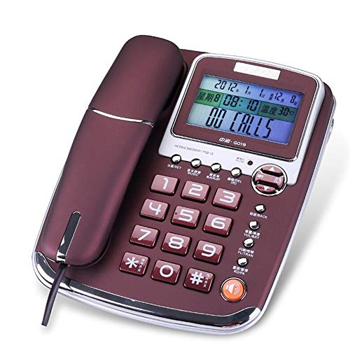 F&W WF Telephone/Fixed Telephone/Home Business Hotel Phone/handsfree phone/21917476mm (Color : Purple)