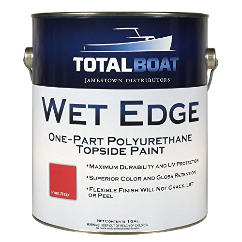 (TotalBoat Wet Edge Topside Paint (Fire Red, Gallon))