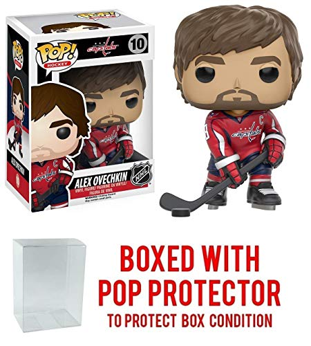 POP! Sports NHL Washington Capitals Alex Ovechkin #10 Action Figure (Bundled with Pop Box Protector to Protect Display Box)