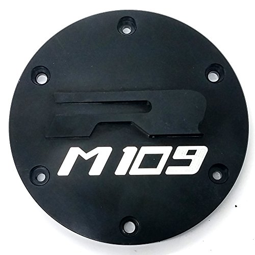 Black Engine Stator Cover Crash Bar Guard Crankcase Right 3D Engraved Chrome For SUZUKI M109R Boulevard 2006-2013 ()