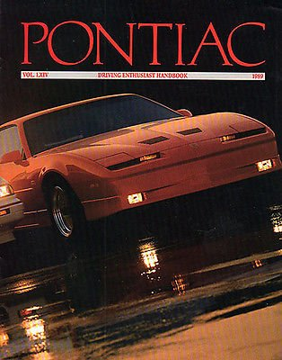 - 1989 PONTIAC FULL-LINE COLOR SALES BROCHURE - VOL. LXIV - USA - EXCELLENT - LOT OF 3 !!