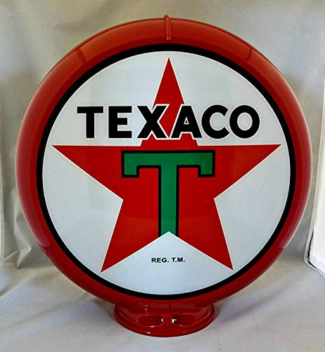 The Finest Website Inc. New Reproduction Texaco Gas Pump Globe Already Assembled - Red Outer Frame - Ships Free Next Business Day to Lower 48 States