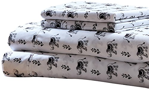 RT Designers Collection Ellie Printed 4-Piece Sheet Set, Full