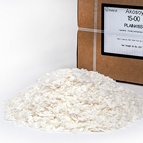 100% SOY WAX FLAKES – 50 LB – FOR CANDLE MAKING SUPPLIES – ALSO COSMETIC GRADE – NO ADDITIVES – BY VIRGINIA CANDLE SUPPLY IN USA