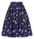 GRACE KARIN 50's Swing Retro Pleated Skirt Bubble Style Size S CL010401-5