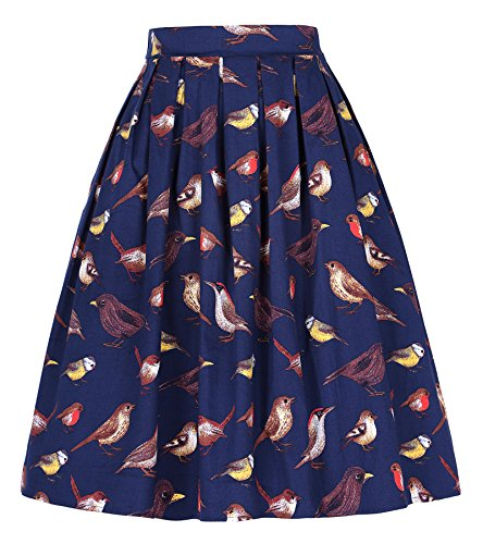 - GRACE KARIN 50's Swing Retro Pleated Skirt Bubble Style Size S CL010401-5