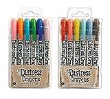Ranger Tim Holtz 12 Distress Crayons Sets #6, #7 (TDBK51763+TDBK51770)