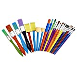 Artlicious - 25 All Purpose Kids' Paint Brush Value Pack