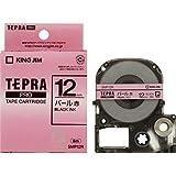 キングジム テープカートリッジ テプラPRO 12mm SMP12R パール赤