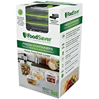 4 Piece FoodSaver Fresh Vacuum Seal Food and Storage Containers with 2 Produce Trays