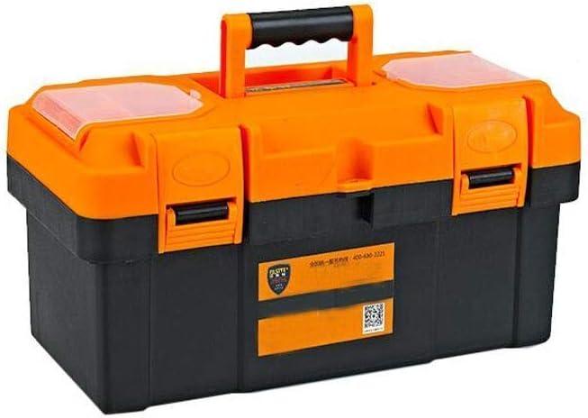 HRSS Adecuado for Uso doméstico Reparación Herramienta al Aire Libre Caja de Almacenamiento, Espeso de Color Naranja de plástico Multifuncional 17 Pulgadas (Color: Naranja, tamaño: 40 * 20 * 20 cm)