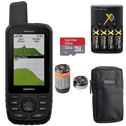 - Garmin GPSMAP 66st TOPO U.S. Canada 100K Maps Multi-GNSS Support &32GB Memory Card+More
