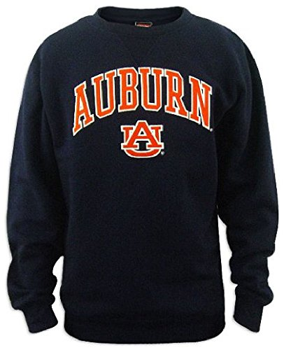Fleece Throw Auburn Tigers (Auburn Tigers Blue Throwback Look Embroidered Gameday Crew Sweatshirt (X-Large))