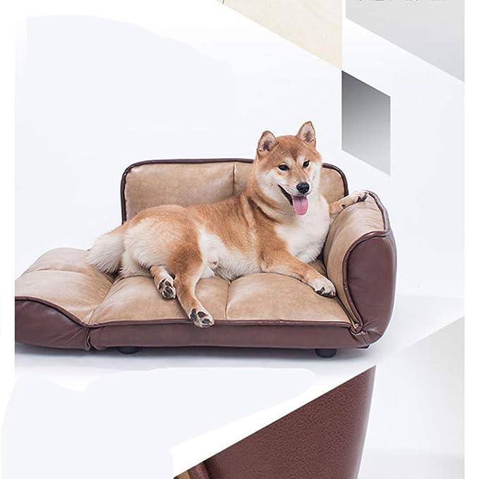 MUJING Tipo De Extensión Ortopédica Acolchada Y Cuero Artificial Sofá Cama para Perros Y Gatos: Amazon.es: Hogar