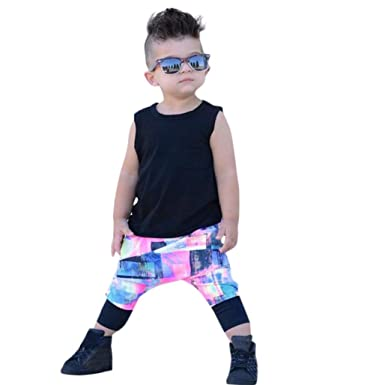 1228d6702 Familizo Lovely Newborn Infant Toddler Baby Boys Girl Solid Tops T Shirt  Vest Shorts Outfits Set Fashion Cotton O-Neck Sleeveless Clothes 0-4 Years  Old