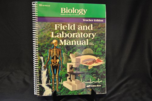 field lab manual Browse textbooks, lab manuals and reference materials for green  in the field,  this book provides a single and concise reference for chemists,.
