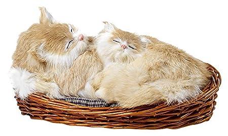 Moycor 262612 Pieza Decorativa de Gatos Dentro de una Cesta ...