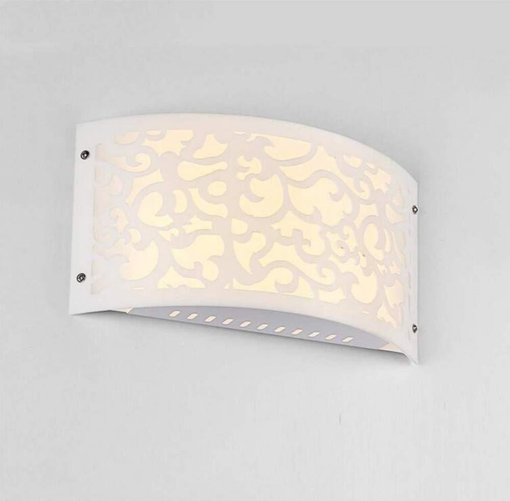 Retro Lichtminimalist Hohlwandleuchte Led Wohnzimmer Hintergrund Wandleuchte Schlafzimmer Nachttischlampe Balkon Ganglampe 30  16,5 Cm, muster [Energieklasse A +]
