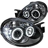 Spec-D Tuning LHP-NEO03JM-TM Dodge Neon Srt4 Black Dual Halo Led Projector Headlights