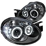 2005 dodge neon srt4 - Spec-D Tuning LHP-NEO03JM-TM Dodge Neon Srt4 Black Dual Halo Led Projector Headlights