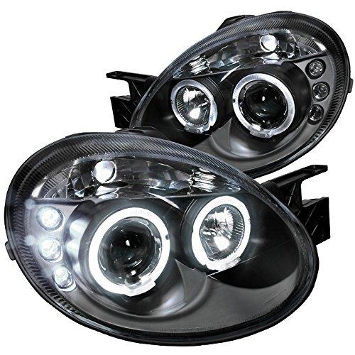 Spec-D Tuning LHP-NEO03JM-TM Dodge Neon Srt4 Black Dual Halo Led Projector -