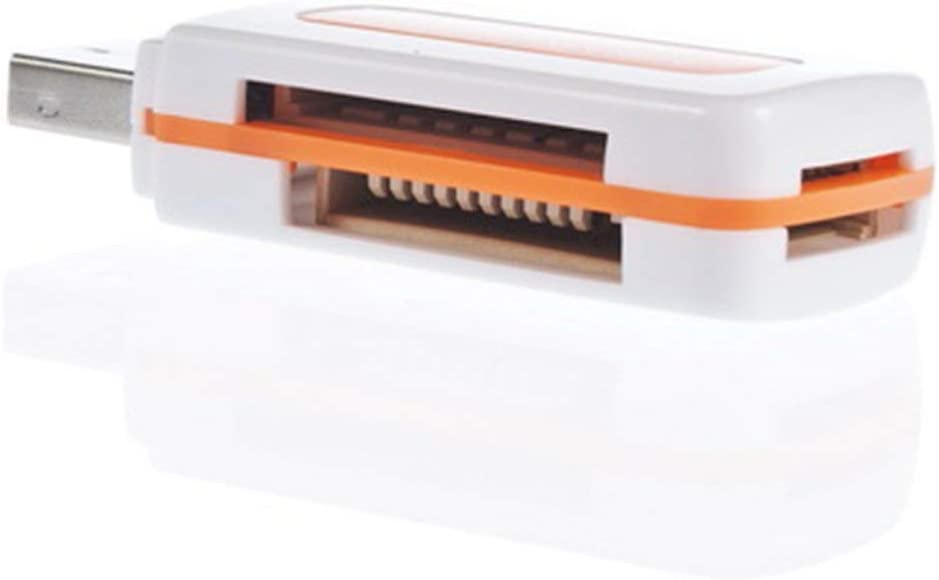 Heaviesk Protable USB 2.0 4 en 1 Lector de Tarjetas de Memoria m/últiple para M2 para SD para SDHC DV Micro para Tarjeta Secure Digital TF