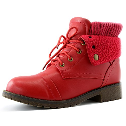 Red Boots with PU up Bootie Ankle Wallet Pocket Style Card Combat for Women's Sweater Money Pocket Knife Top DailyShoes Credit TH8qU1wxn