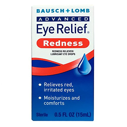 Bausch & Lomb Advanced Eye Relief Redness Instant Relief Eye Drops 0.50 oz (Pack of 9)