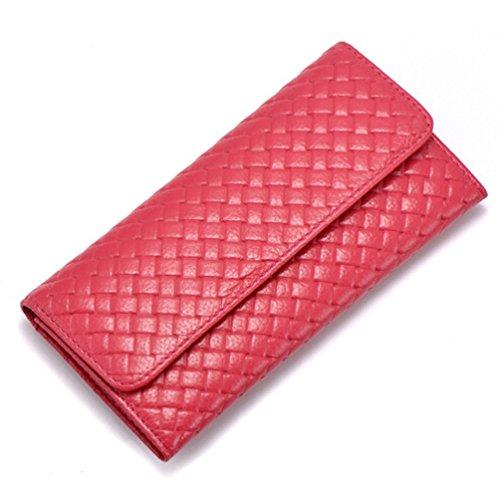 GSP - Cartera de mano de cuero para mujer rosa - Dark Pink