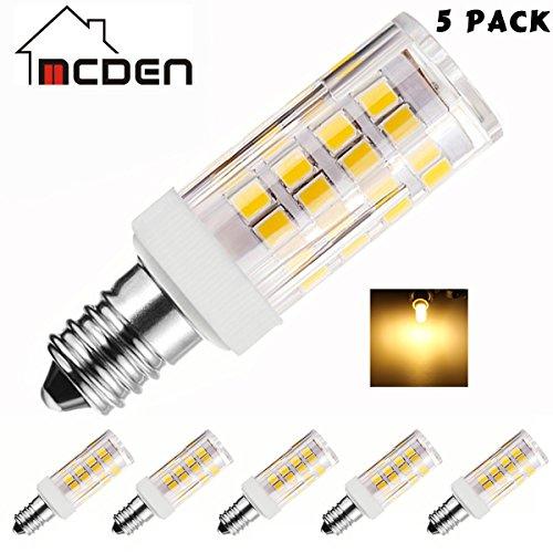 McDen® Foco LED Bombillas 5 W E12 LED Candelabra Equivalente a Foco Incandescente de 40 W, Lámpara de araña LED Bombillas,...