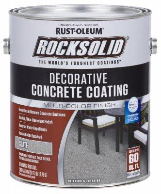 - RUST-OLEUM 306267 306267 Gallon Slate Concrete Coating
