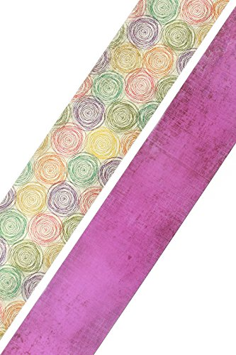 Chic Swirl - Renewing Minds Retro Chic Double-Sided Border Trim, Multi-Colored Swirls and Purple, Pack of Twelve 38 inch Strips
