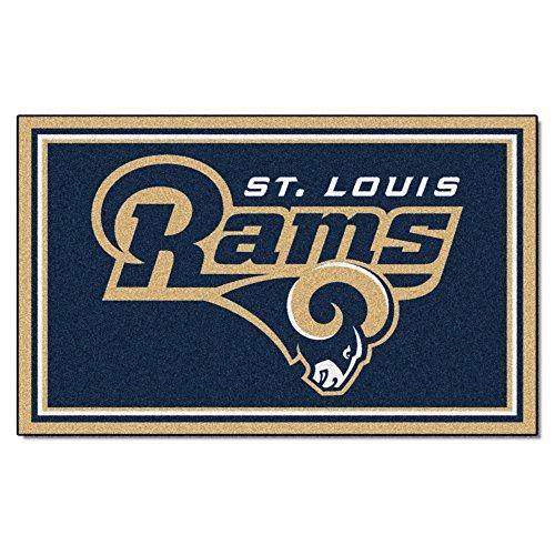 FANMATS NFL Los Angeles Rams Nylon Face 4X6 Plush Rug by Fanmats