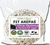 FIT AREPAS - CHIA QUINOA FLAX SEEDS ''YOGURT'' DAIRY FREE (4 PACKS)(20 UNITS)