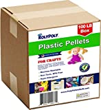 Poly Pellets Bulk (100LB Box) Non-Toxic, Premium USA-made for Weighted Blankets, Rock Tumblers, Stuffing/Filling Dolls, Crafts, Corn Hole Bags, Cross Fit Bags, Rifle Bags, Lap Pads, Sensory Toys