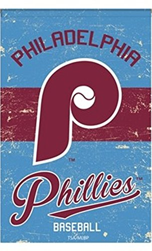 . Philadelphia Phillies EG VINTAGE Retro BANNER Premium 2-sided 28x44 House Flag Baseball ()