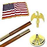 Valley Forge 8ft U.S. Indoor Flag Set