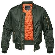 CRYSULLY Men's Jacket-Fall Winter Windbreakers Bomber Pilot Coat Military Flight Jackets
