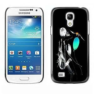 PC/Aluminum Funda Carcasa protectora para Samsung Galaxy S4 Mini i9190 MINI VERSION! Neon Abstract / JUSTGO PHONE PROTECTOR