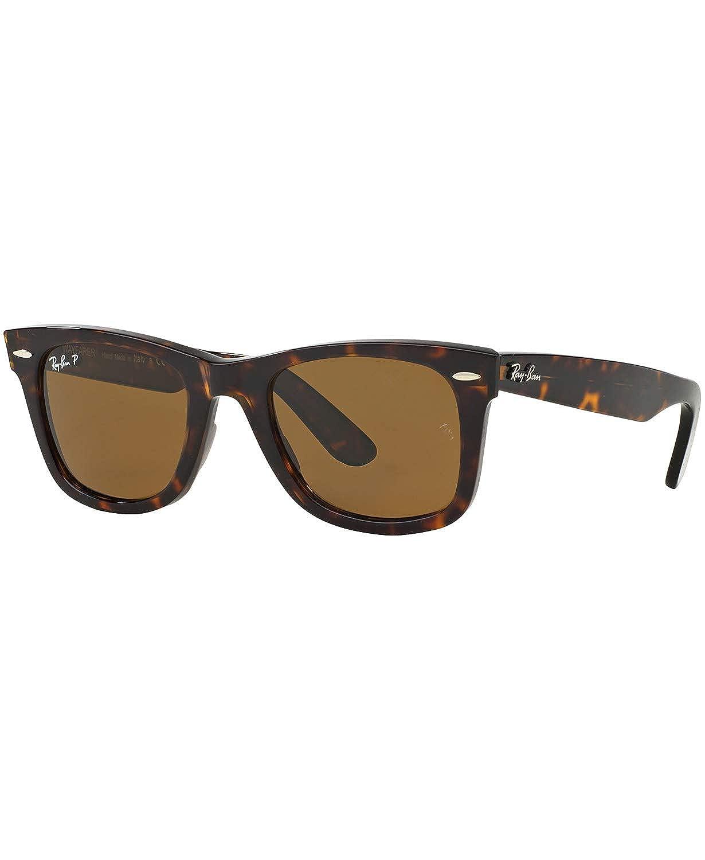 856c32317905f Amazon.com  Ray-Ban Original Wayfarer Sunglasses (RB2140 50) Brown Brown  Acetate - Polarized - 50mm  Ray-Ban  Shoes