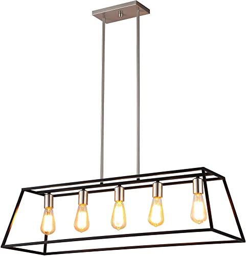 Ove Decors Agnes II Pendant Light Fixture, Black Bronze