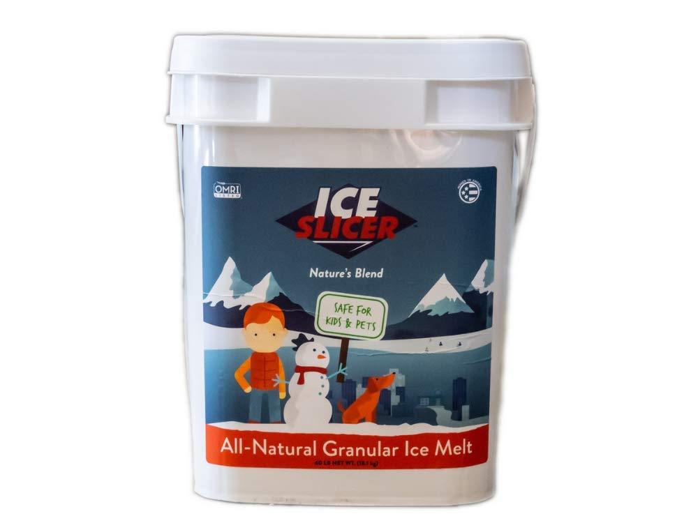 REDMOND Ice Slicer - Ice Melt Salt, Kid & Pet Safe Deicer, All-Natural Granular Ice Melt (40 Lbs) by REDMOND