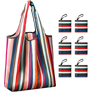 Reusable Grocery Shopping Bags Foldable with Pouch 05a8214d7355b